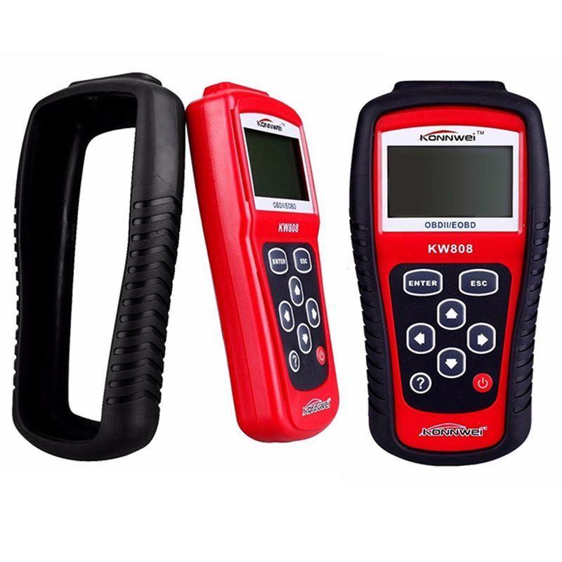 Цена за OBD2 EOBD СКАНЕР ИНСТРУМЕНТ Горячие Продажа Цена Промотирования KW808 Obdii/eobd code Reader Autel Maxiscan MS509 Авто Сканер Охват