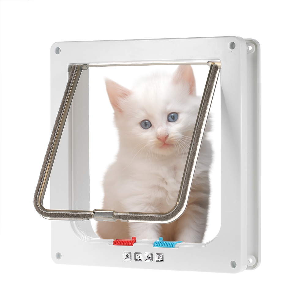 4-way Locking Pet Door W/ Smart Switches Keep The House Door Closed But Allow Your Pet To Go In Or Out Freely For Dog Cat Pet