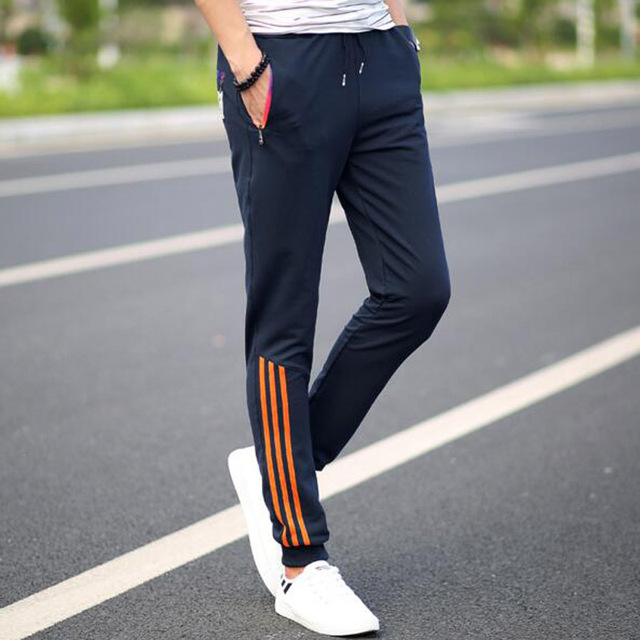 Spring Casual Pants  Mens Sweat Pants Male Cotton Gradient Color Pocket Long Casual Trousers Straight Pants Plus Size 4XL,5XL