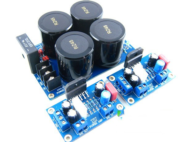 DIY kits 2pcs LM3886 Amp Board LM3886TF Audio Power Amplifier with one Rectifier Filter Board