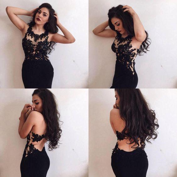 Popular Black Lace Prom Dresses-Buy Cheap Black Lace Prom Dresses ...