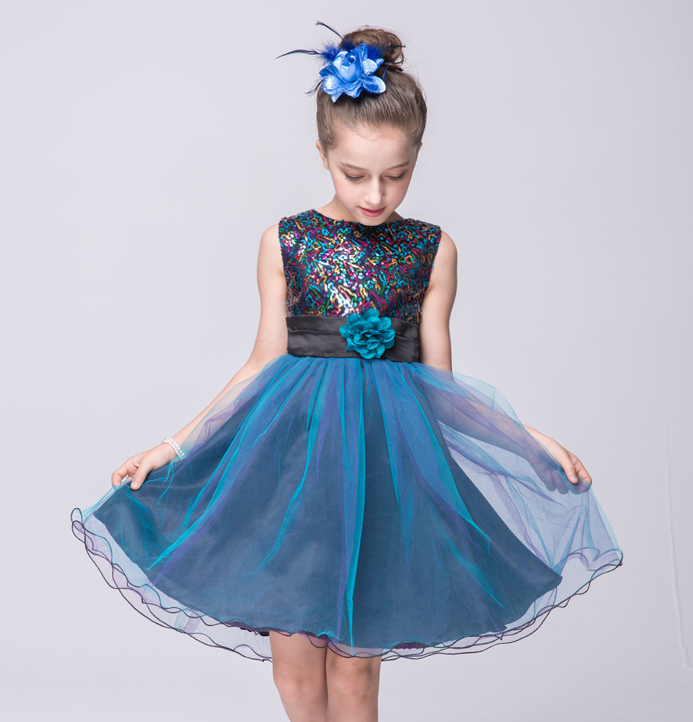 2018 summer baby girls formal princess chiffon dress for children ...