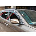 Set of 4pcs High Quality Plastic window visor deflector for BMW X5 F15 2014 2015 Car Styling accessories!