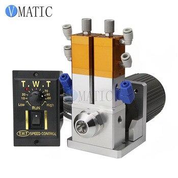 Бесплатная доставка 2018 клапан для жидкостей для смешивания клея Дозирующий клапан 1:1 + электрическая машина 15 Вт или 25 Вт