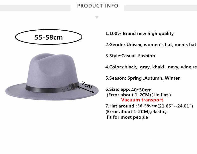 2017 o envio gratuito de 2017 novos homens Da Moda chapéu de feltro das mulheres moda jazz chapéu do verão primavera negra de lã mistura cap casual ao ar livre chapéu