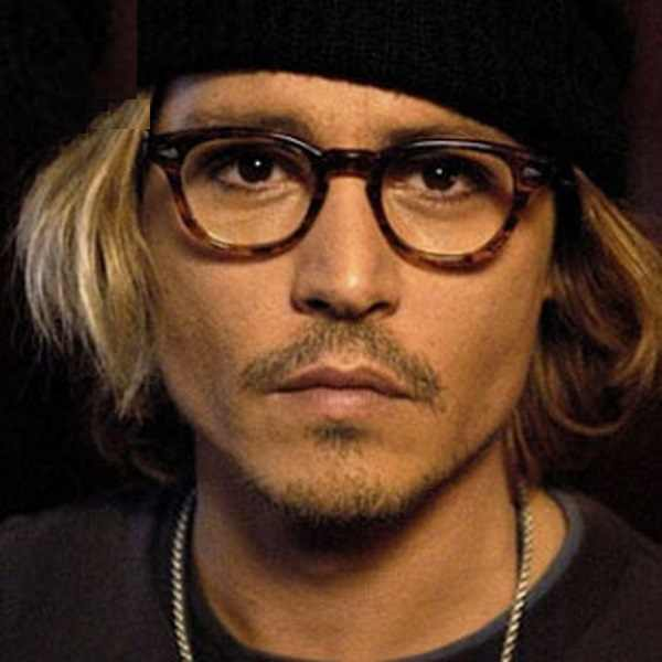 2018 Johnny Depp Style Glasses Men Retro Vintage Prescription Glasses Women Optical Spectacle Frame Clear lens Black frame