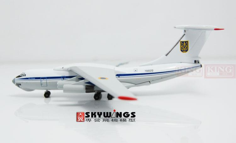WT4I76009 IL-76MD Ukraine air force Witty 78820 1:400 commercial jetliners plane model hobby
