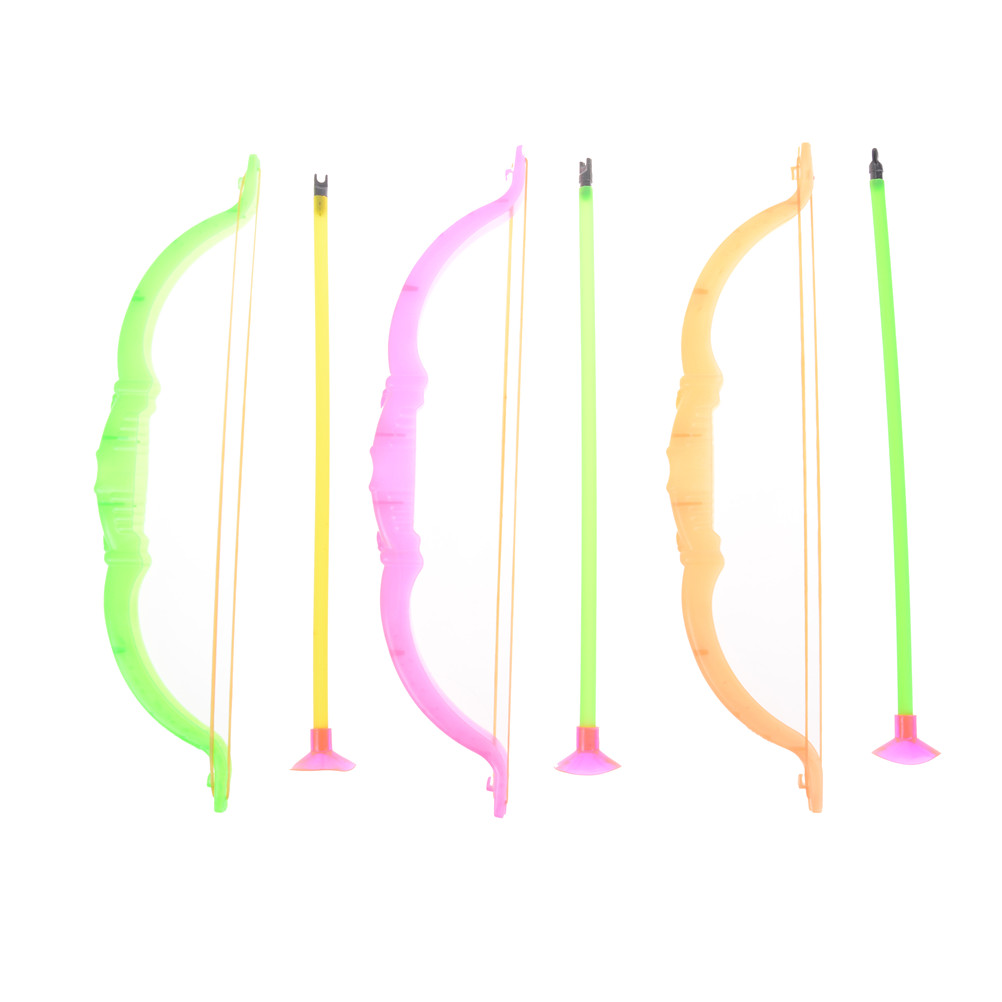 Shooting Sports Toys 26cm Funny Plastic Archery Bow And Arrow Toys Outdoor Garden Games Toy For Children Gifts Set
