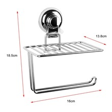 OUTAD Stainless Steel Wall Mount Storage Rack Mobile Phone Roll Towel Tissue Paper Storage Holder Bathroom Accessories