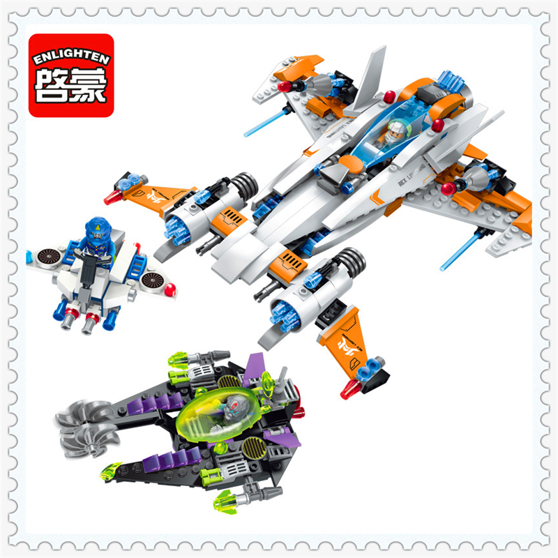 ENLIGHTEN 1615 Space Chase Destroyer Thunder Fighter Building Block 478Pcs Educational  Toys For Children Compatible Legoe hot sale 1000g dynamic amazing diy educational toys no mess indoor magic play sand children toys mars space sand