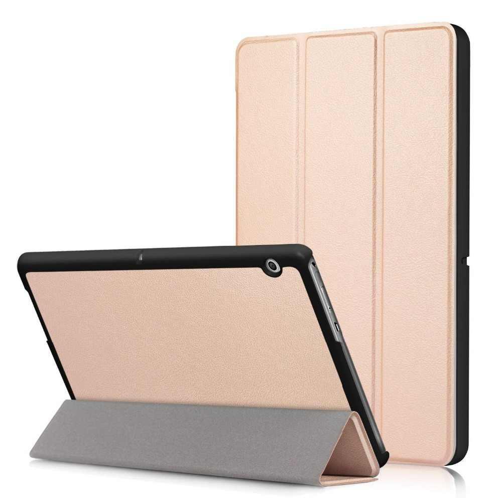 "PU cuero Folio delgada cubierta protectora elegante para Huawei MediaPad T3 10 AGS-W09/AGS-L09 vidrio templado T3 9,6"""