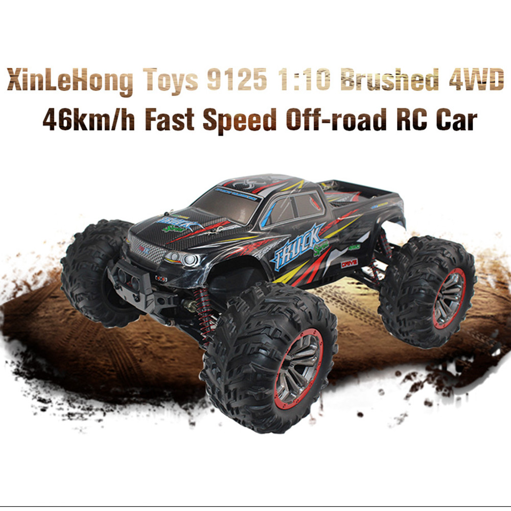 RC Racing Car XinLeHong Toys 9125 1:10 Brushed 4WD 46km/H Fast Speed Off-Road RC Car Toy Gifts For Children