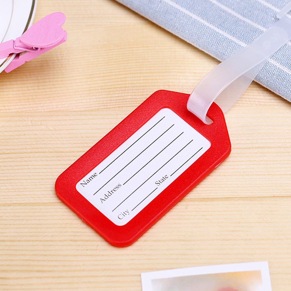 PVC Travel Luggage Bag Tag Address ID Label Suitcase Baggage Tags