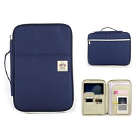 Multifunctional A4 Documents Storage Bag Ziper Waterproof Briefcase Hand Bag For Ipad