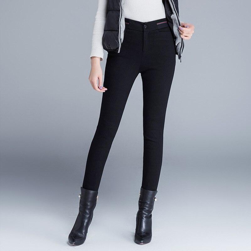 Pantalon d'hiver femmes taille haute canard bas pantalon pour dames qualité travail élégant décontracté bas pantalon Skinny crayon pantalon PT-265