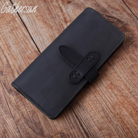 Handmade 100 High Quality Top Layer Cowhide Leather Wallet Genuine Leather Unisex Vintage Style Long Purse
