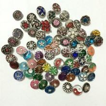 free shipping wholesale 30pcs/lot mix styles colors 12mm small button snap jewelry interchangeable ginger snap button charm все цены