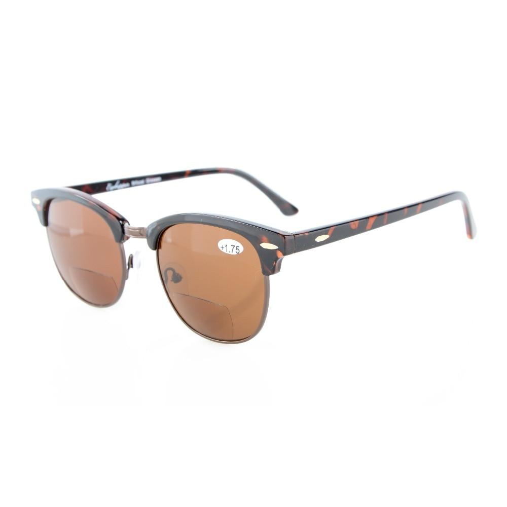 R128 Bifocal Eyekepper Semi-Rimless Bifocal Sunglasses Mens Womens +1.0/1.25/1.5/1.75/2.0/2.25/2.5/3.0