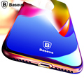 Baseus Case Для iphone 7/7 plus Роскошный Прозрачный Градиент цвет Телефон Case Cover Для iPhone 7 Plus Coque Hard Глазури