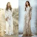 Vestido De Noiva Sexy Vestido de Noiva Zuhair Murad Manga Comprida Lace Illusion Vestido de Noiva Boho Bohemian Vestidos de Noiva Custom Made