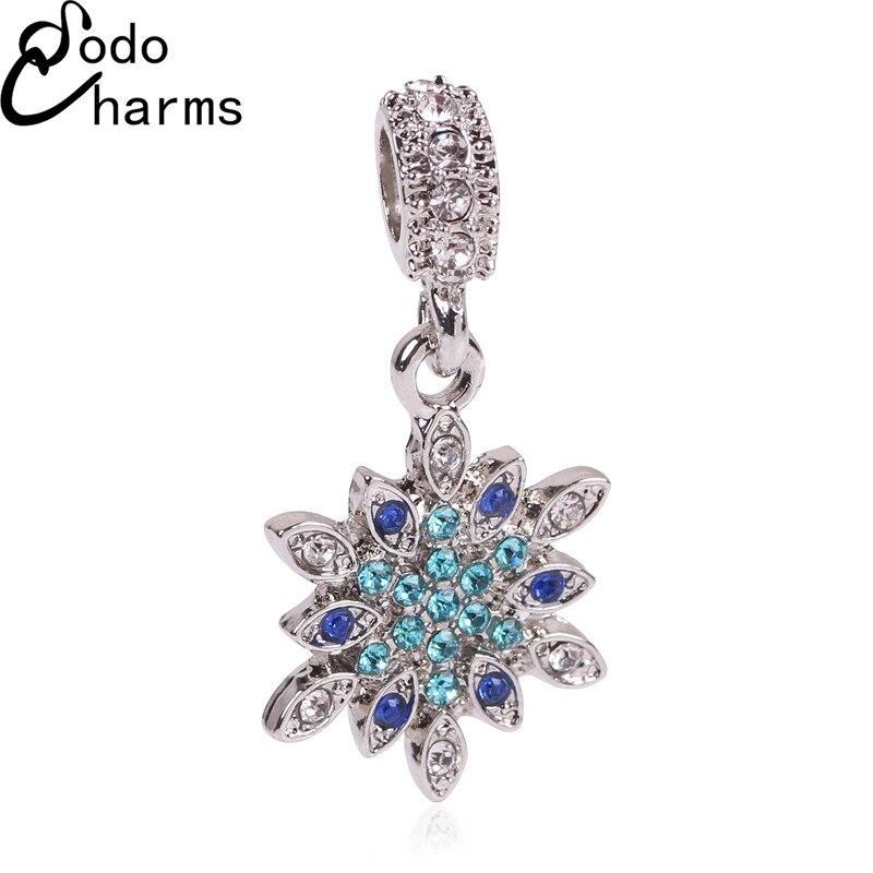 New 925 Silver Beads Charms Fine Original Snow Pendant Beads Fit Pandora Charms Bracelets & Bangles Necklace DIY Jewelry