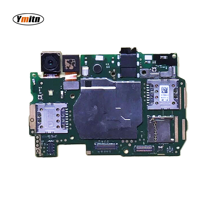 Ymitn Mobile Electronic Panel Mainboard Motherboard Unlocked With Chips Circuits Flex Cable For Huawei Y6 CAM-L21