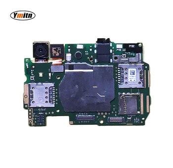 Ymitn panel electrónico móvil placa base desbloqueado con chips circuitos Cable flexible para Huawei Y6 CAM L21 Circuitos de teléfonos móviles     -