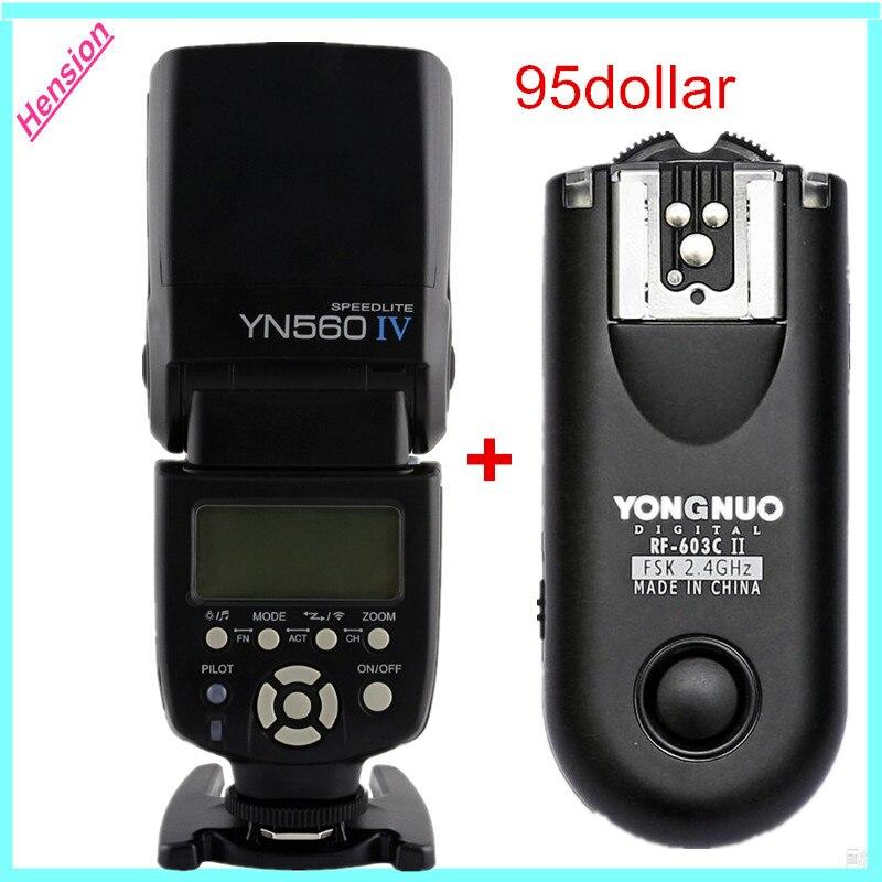 Yongnuo YN-560 YN560 IV IV 2.4 Г Беспроводная Вспышка Speedlite С Ручной Вспышки Триггера RF-603II Для Canon Nikon Olympus Pentax