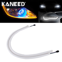 2m DIY Flexible Daytime Running Light MultColor Soft Article Lamp Switchback Tube Car Styling Strip With