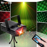 Wrumava Mini Laser DJ Disco Light Projector Stage Light Moving Head Dance Party Disco Show Lights Music Christmas Decorations