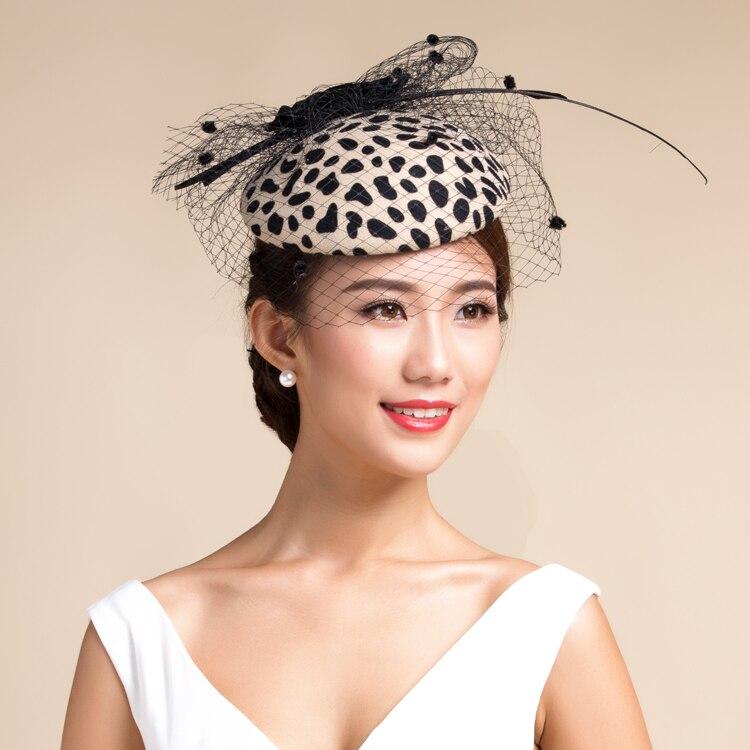 Vogue Show fiesta leopardo Fedora sombrero para mujeres elegantes señoras  pura lana leopardo impresión Bowler invierno tapa libre tamaño 27e5c2d020b