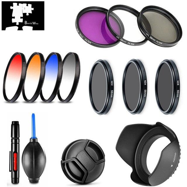 Akcesoria UV CPL FLD gwiazda ND2 ND4 ND8 stopniowany kolor soczewka filtra osłona długopis czyszczący do aparatu cyfrowego Nikon CoolPix P1000