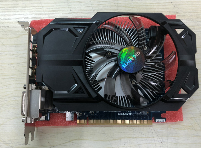 GTX 750 ti 2GB Graphics Card 128Bit GDDR5 Video GIGABYT Cards for nVIDIA Geforce GTX 750Ti 2 GB Hdmi Dvi Used VGA Cards(China)