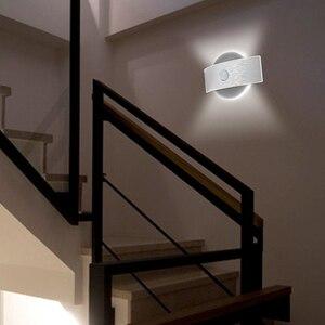 Image 2 - Şarj edilebilir LED kızılötesi PIR hareket sensörü gece lambası kablosuz LED duvar lambası otomatik açık/kapalı çocuk yolu merdiven duvar buzdolabı