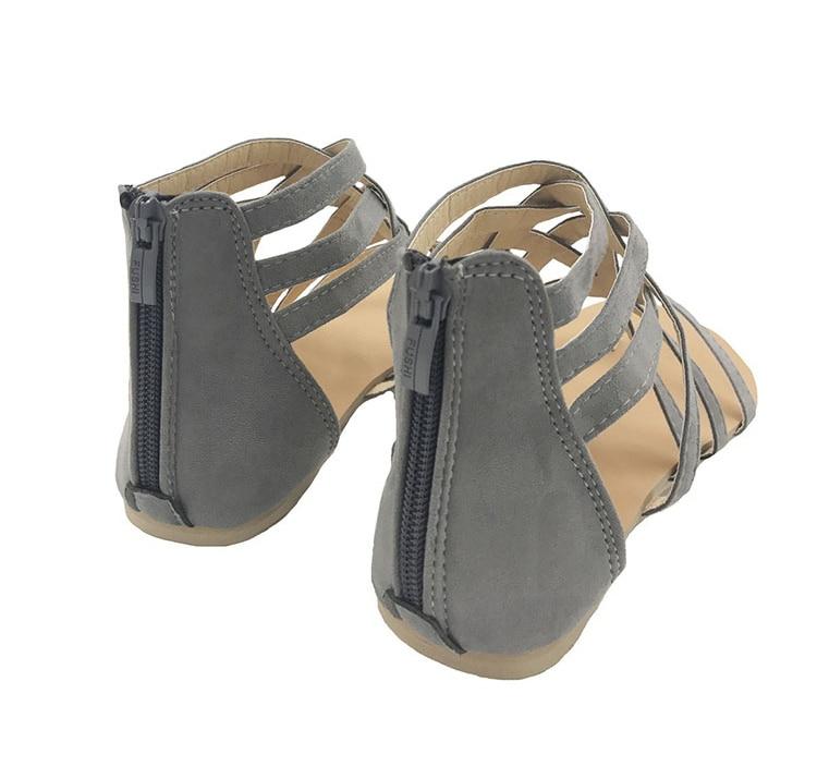 HTB1alGKl25TBuNjSspmq6yDRVXaM Women Sandals Fashion Gladiator Sandals For Women Summer Shoes Female Flat Sandals Rome Style Cross Tied Sandals Shoes Women 43