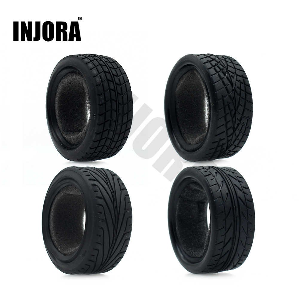4 stks/set Rubber Tyre Wheel Band voor 1/10 RC On Road Car Traxxas HSP Tamiya HPI Kyosho RC Auto