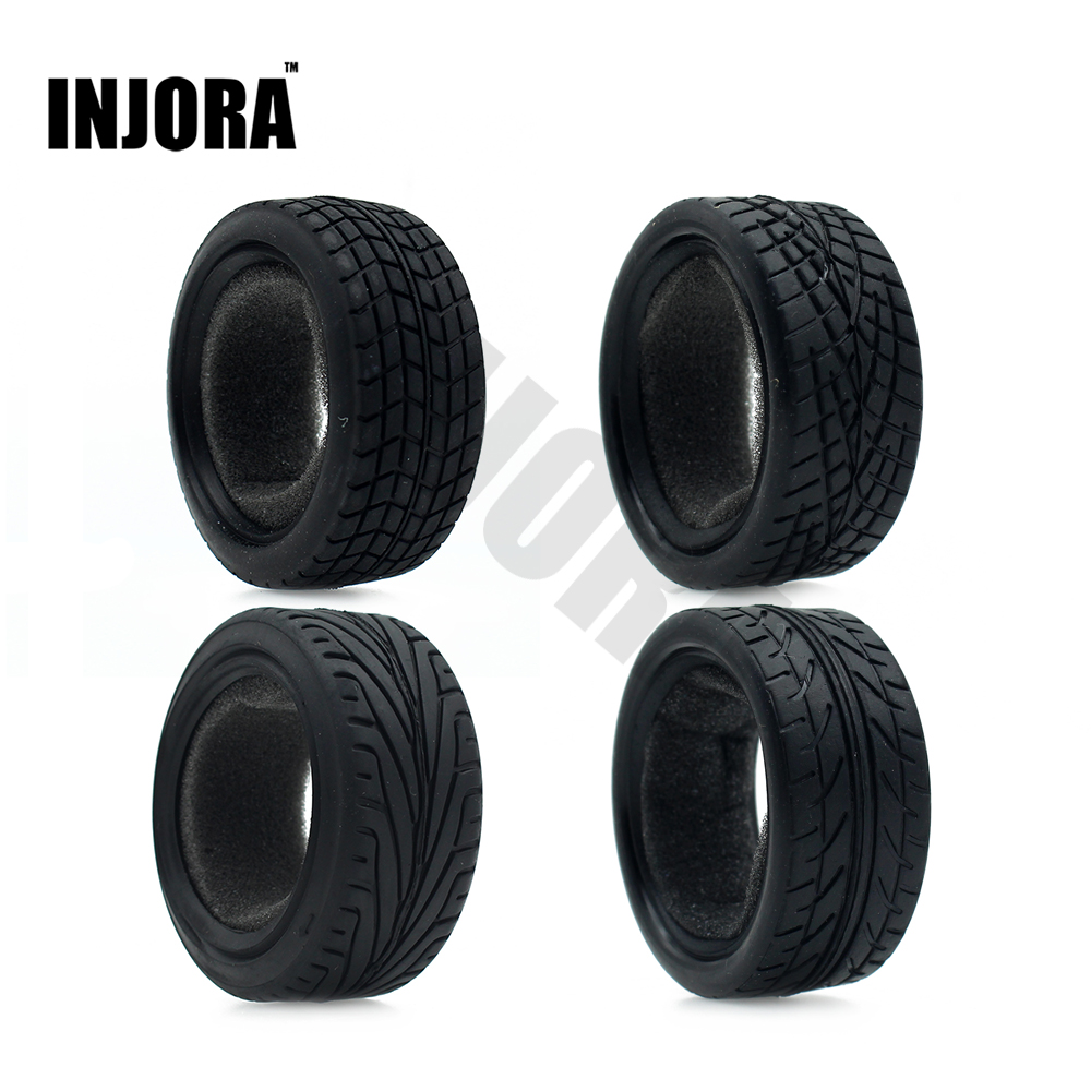 4Pcs/Set Rubber Tyre Wheel Tire for 1/10 RC On Road Car Traxxas HSP Tamiya HPI Kyosho RC Car 2pcs traxxas original 1 5 x maxx tires wheels tire tyre for 1 5 traxxas x maxx rc monster truck model 7772