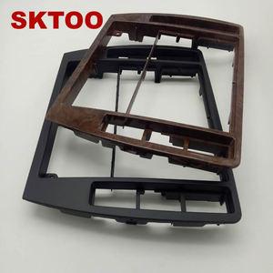 Image 3 - SKTOOFor פולקסווגן מרכז Escutcheon PassatB5 התיכון מסגרת פנל קונסולת CD מקליט לוח המחוונים קופסא דקורטיבי לקצץ פנים רדיו 3B0858069