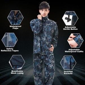Image 4 - QIAN RAINPROOF Professional Outdoor Raincoat Thicker Heavy Water Gear Hiddenhat Fashionable Sportswear Waterproof Rain Gear