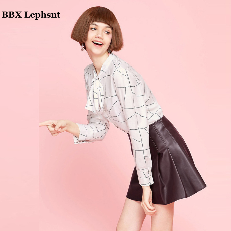 2018 Sexy Black Short Skirt Women High waist PU Leather A-Line Mini Skirt Ladies Vintage Retro Office Casual Skirts