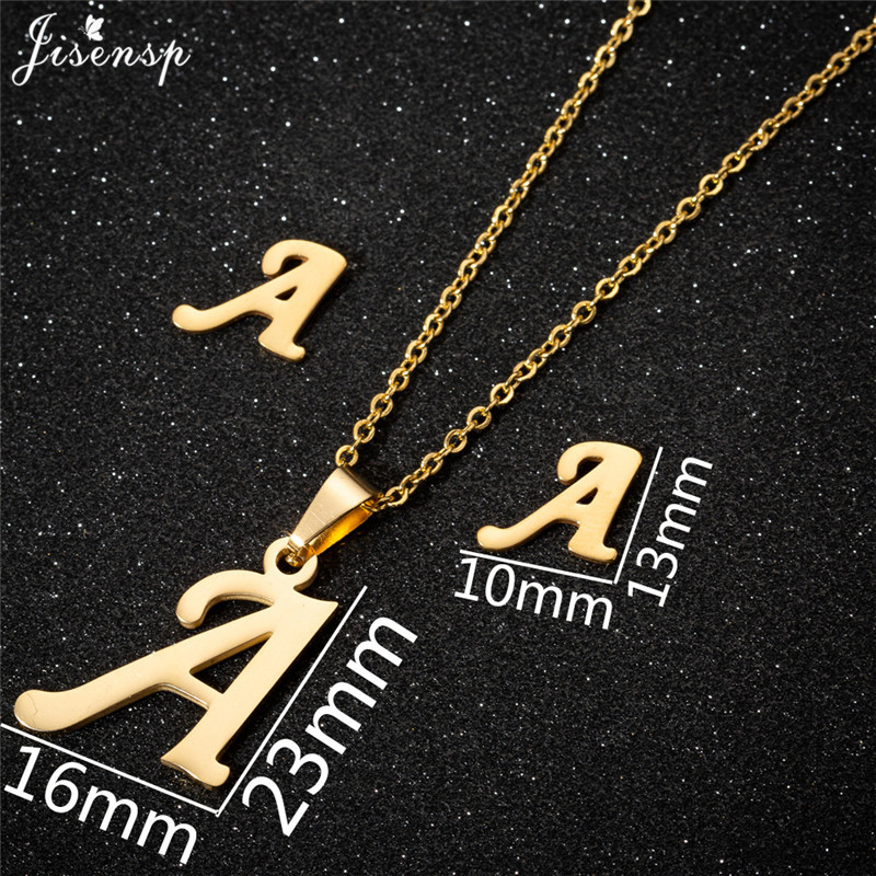 Jisensp Personalized A-Z Letter Alphabet Pendant Necklace Gold Chain Initial Necklaces Charms for Women Jewelry Dropshipping 2