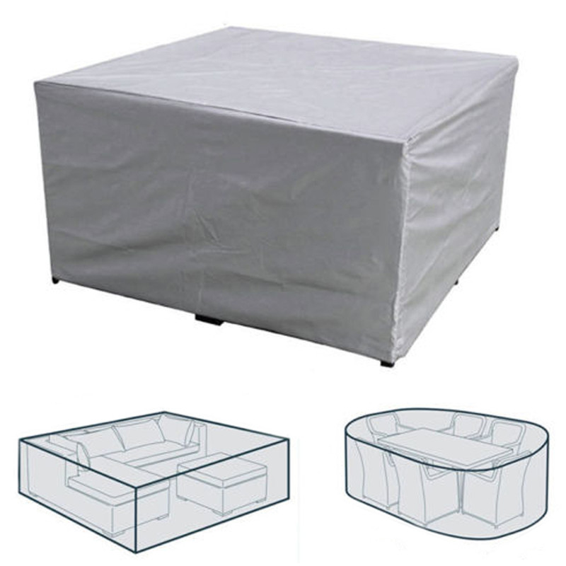 7 Sizes Outdoor Cover Waterproof Furniture cover Sofa Chair Table Cover Garden Patio Beach Protector Rain Snow Dustproof 2
