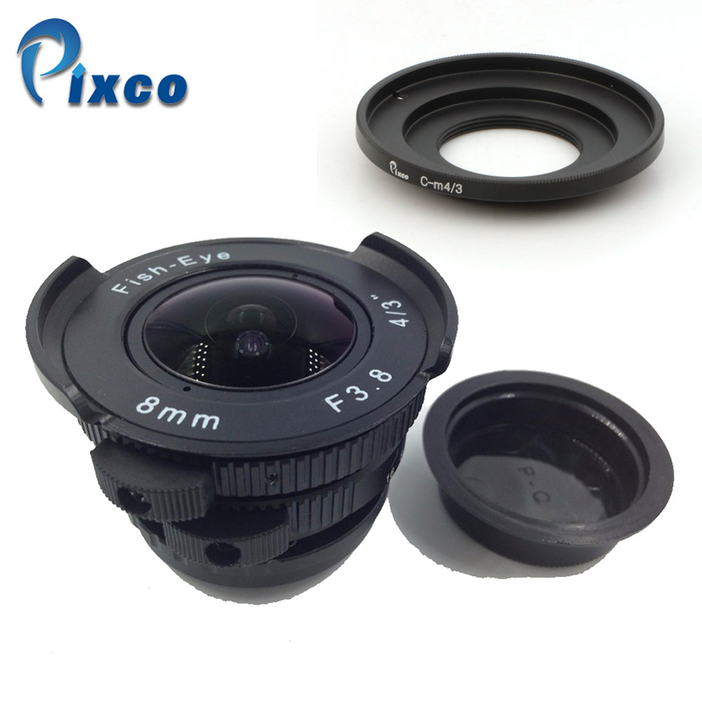 8mm F3.8 Fish Eye CC TV Lens For C - Micro 4/3, For C - Sony Nex Nikon 1 Pentax Q Fuji FX