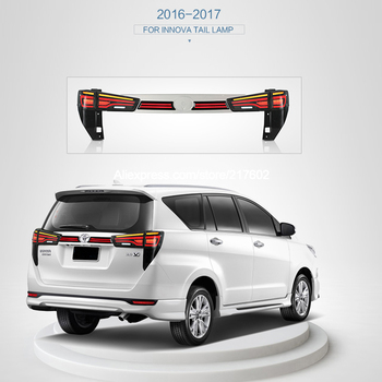 V3 type 3PCS 2016- for Toyota INNOVA CHRYSTA LED Tail lights facelift with Back Bumper lights Sequential indicator