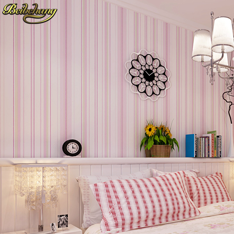 Beibehang Parede Modern Fashion Horizontal White Blue Striped Wallpaper Roll Vertical Kids Child For Wall Living Room Bedroom In Wallpapers From Home