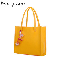 kai yunon Fashion girls handbags leather shoulder bag candy color flowers totes Sep 7
