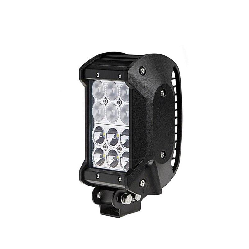 1 pcs 36 w 3.9 pouces LED Barre Lumineuse Lumière Du Jour Offroad Spot/Inondation/Combo Faisceau 12/24 v Conduisant la Lampe de Travail pour Camion SUV ATV 4x4 4WD dans Phare Ampoules de Automobiles et Motos