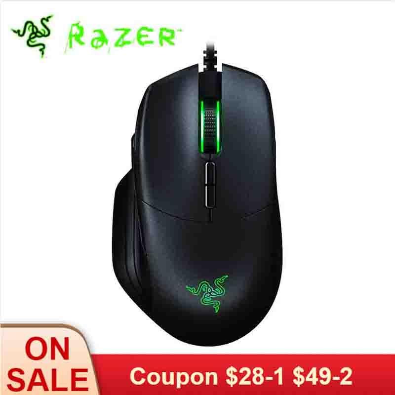 Razer Basilisk Essential Wired RGB Gaming Mouse 16000DPI Optical Sensor 8 Programmable Buttons Ergonomic Design