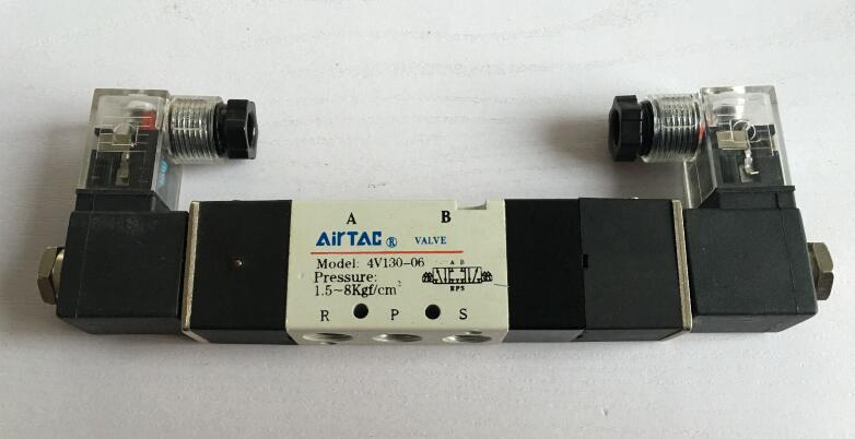 Air Solenoid Valves 4V130-06 3 Position 5 Port 1/8 Pneumatic Control Valve 5 way air valve 3 8 inch pneumatic gas air control solenoid valves inlet outlet 3 8 4a310 10
