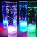 400 ML 7 Cores Mudar LED Copo da Bebida Suco de Luz Luz Da Noite LED Piscando para a Festa de KTV Barra de Luzes Sem Chama copo